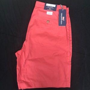 Vineyard Vines 9 inch summer club shorts jetty red